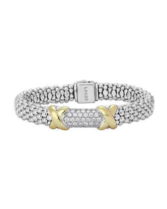Diamond Lux Caviar X Bracelet, 9mm