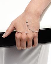 18k White Gold Hand Cuff with Diamonds