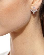 Diamond Petal Jacket Earrings