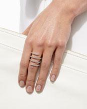 Magic Snake 18k White Gold Diamond Ring