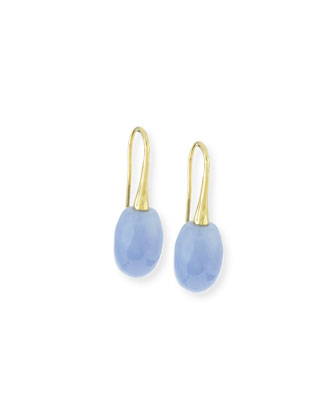 Olive Chalcedony Drop Earrings