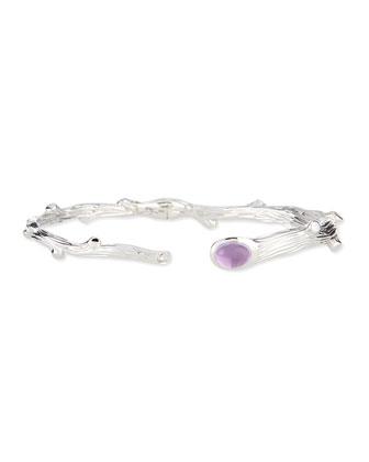 Twig Amethyst & Diamond Bracelet