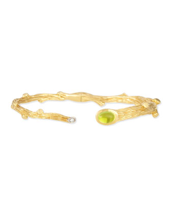 Twig Peridot & Diamond Bracelet