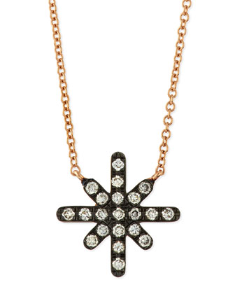 White Diamond Starburst Necklace