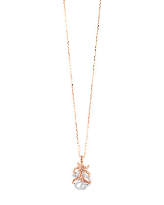 Rose Gold Small Feather Pendant Necklace