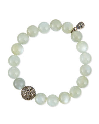 Moonstone & Pave Diamond Bracelet, 1.8ct.