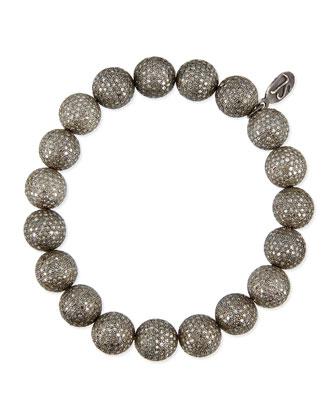 Pave Diamond Beaded Bracelet