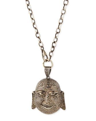Pave Diamond Buddha Pendant Necklace