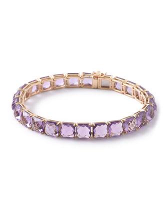 18k Rock Candy Amethyst Tennis Bracelet