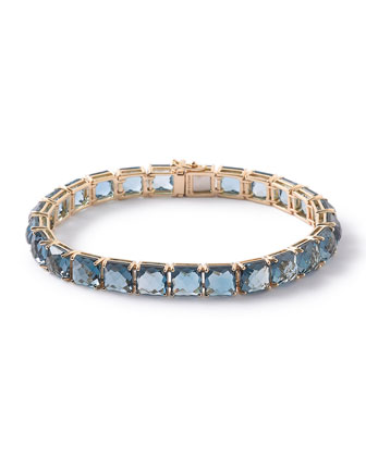 18k Rock Candy London Blue Topaz Tennis Bracelet