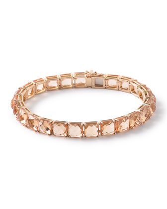18k Gold Rock Candy Orange Citrine Tennis Bracelet