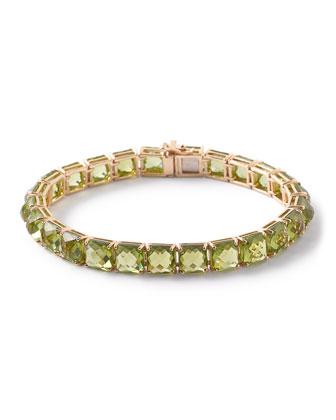 18k Rock Candy Peridot Tennis Bracelet