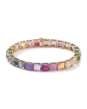 18k Rock Candy Precious Rainbow Tennis Bracelet