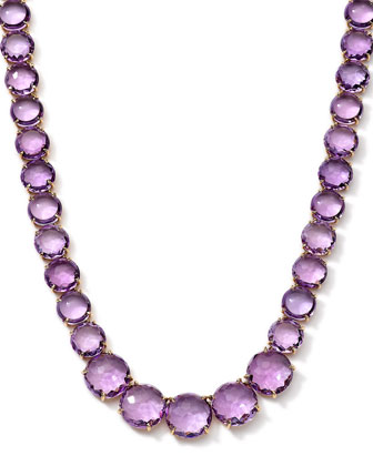 18k Gelato Amethyst Collar Necklace