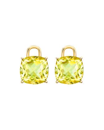 Eternal 18k Gold Lemon Quartz Earring Charms