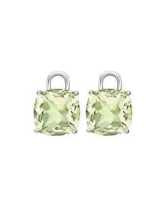 Eternal 18k White Gold Green Amethyst Earring Drops