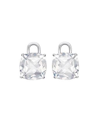 Eternal 18k White Gold Topaz Earring Drops