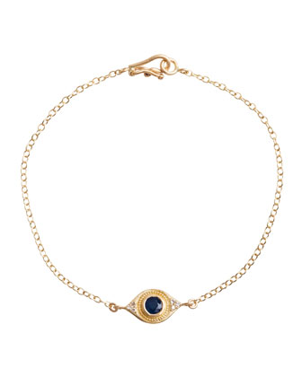 Evil Eye Bracelet with Sapphire & Diamonds