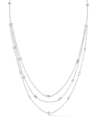 Mixed Cut Multi-Strand Diamond Necklace