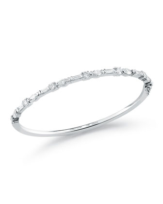 Mixed Cut Diamond Bangle Bracelet