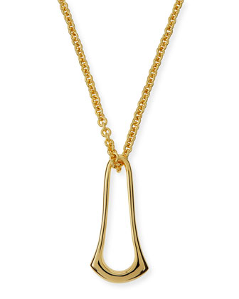 Elongated Sculpt Ring Necklace