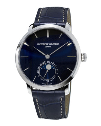 Gents Slimline Manufacture Moonphase Watch
