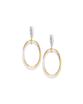 Diamond Oval Interloop Earrings