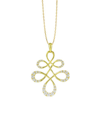 Eloise Large Half-Diamond Pendant Necklace
