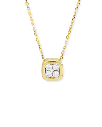 Firenze Mini Diamond Pendant Necklace