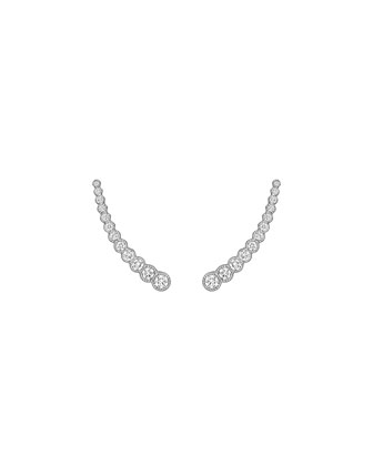 Graduated Diamond Climber Earrings