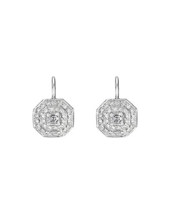 Deco Collection Diamond Octagon Earrings
