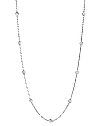 Diamond Eyeglass Chain Necklace, 18