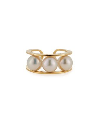 Kobe Akoya Pearl Ring, Size 6