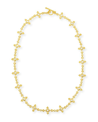Aegean 18k Diamond Mix-Link Necklace, 17