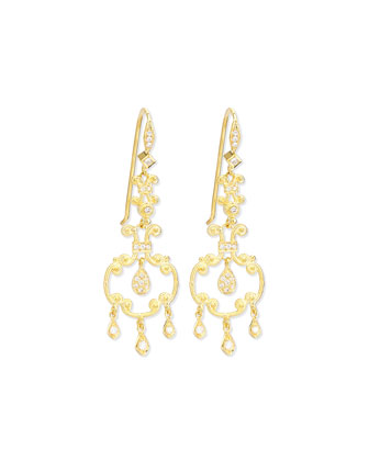Aegean Collection 18k Diamond Open-Drop Earrings