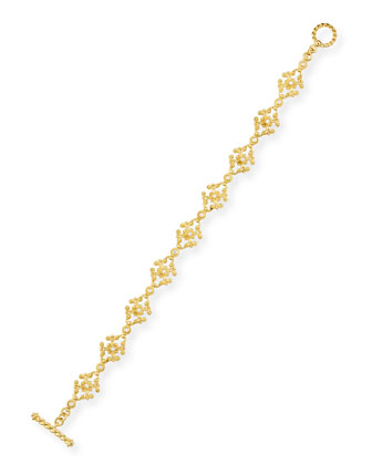 Aegean 18k Diamond Cross-Link Bracelet