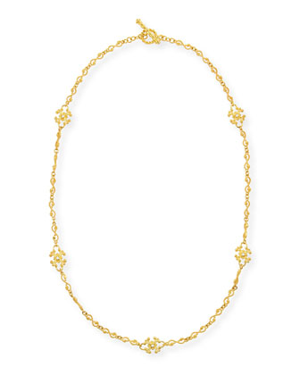 Aegean 18k Diamond Station Necklace