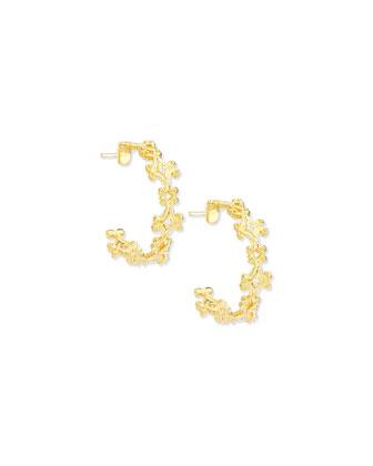Aegean Collection 18k Diamond Hoop Earrings