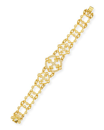 Aegean 18k Diamond Cross Bracelet