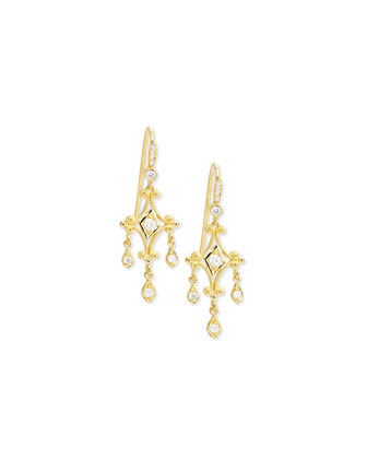 Aegean Collection 18k Diamond Dangle Earrings