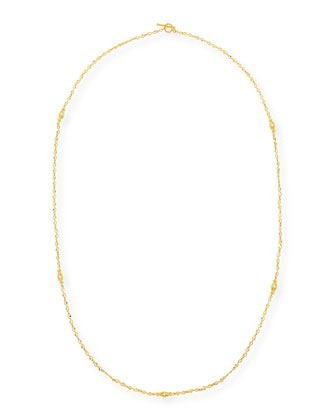 Aegean Long Diamond Station Necklace, 36