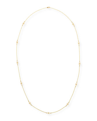 Aegean Collection Long Diamond Station Necklace, 36