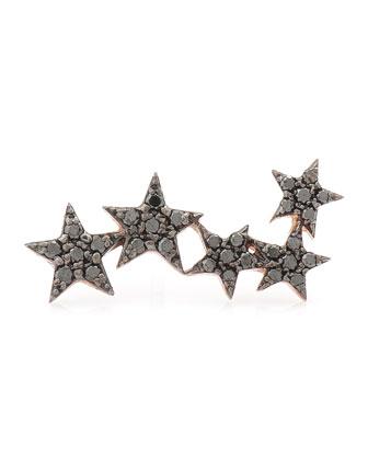 Wonder Woman 5-Star Black Diamond Ear Crawler