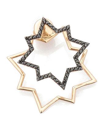 Geometry Black Diamond Star Earring