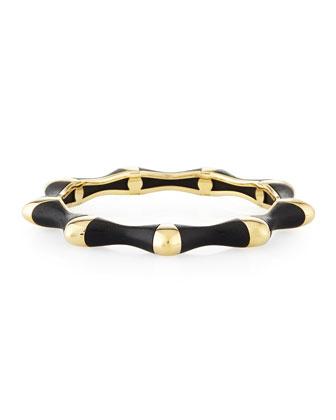 18k Gold Ebony Bangle Bracelet