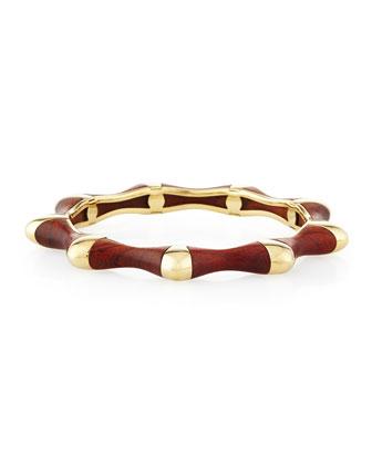 18k Gold Bloodwood Bangle Bracelet