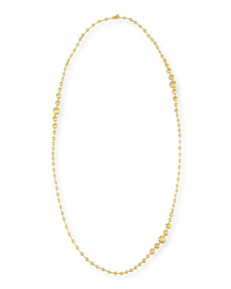 Africa 18k Gold Graduated Ball Necklace