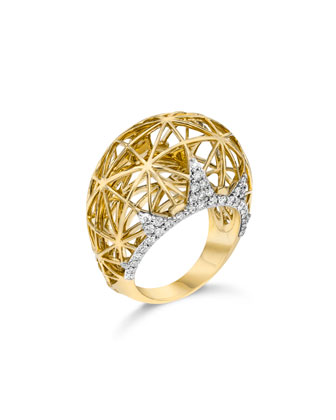 18k Liberte Dome Ring with Diamonds