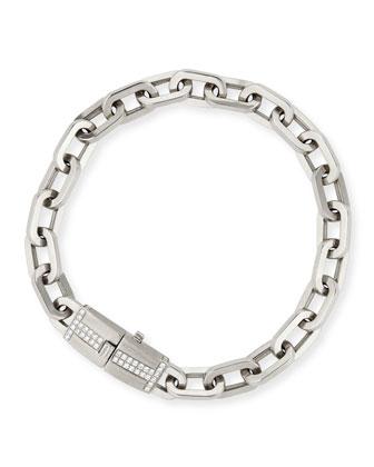 18k White Gold Moderne Diamond Chain Bracelet