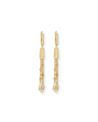 18k Modern Tassel Earrings with Diamonds